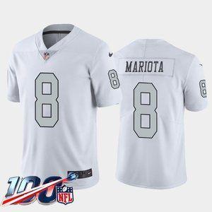 Las Vegas Raiders Marcus Mariota White Rush Jersey